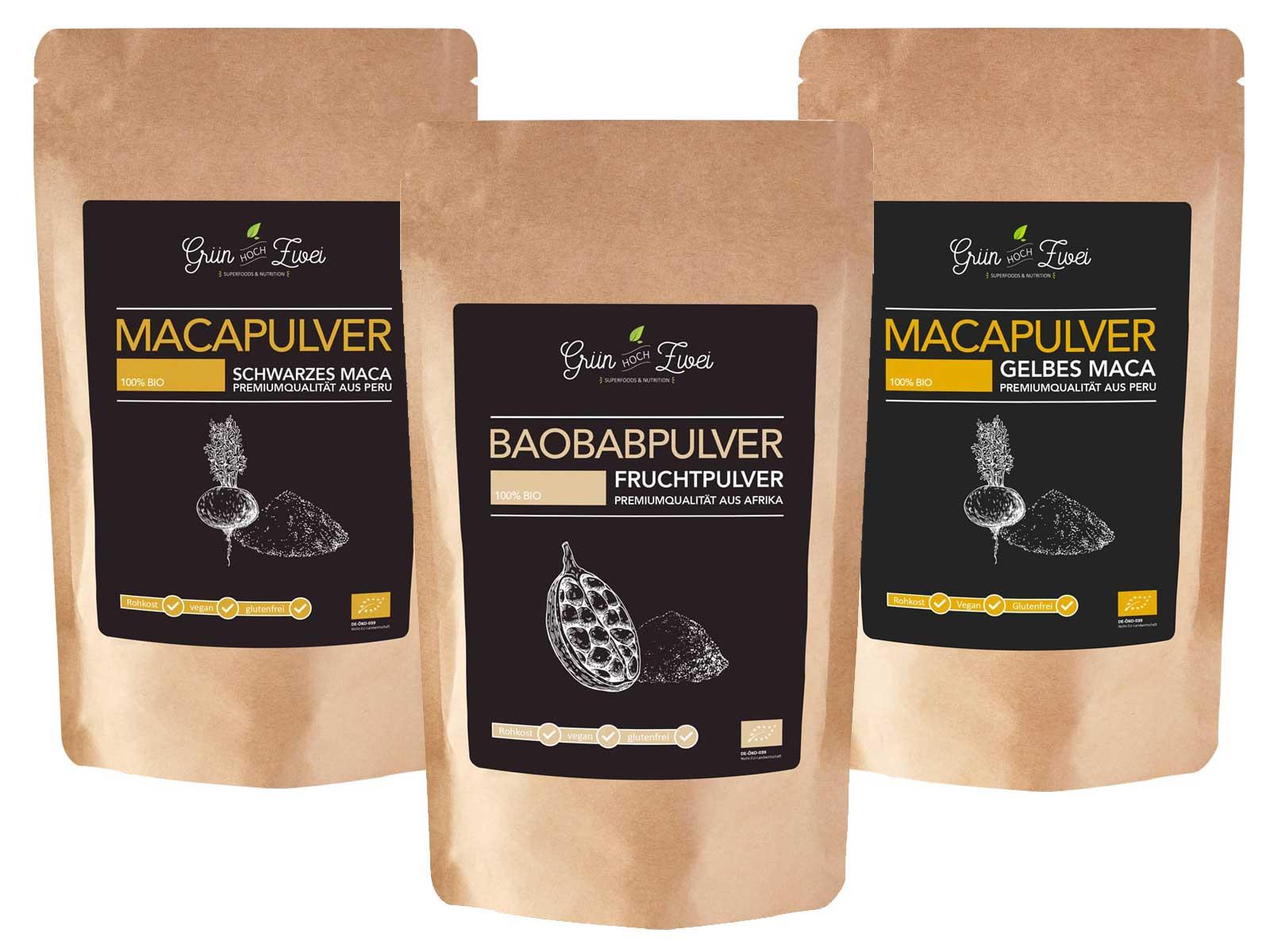 Maca Baobab Nahrungsergänzungsmittel Set